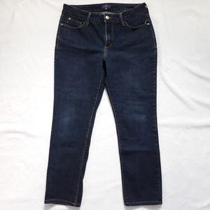 NYDJ Ankle Dark Wash Jeans Sz 8P